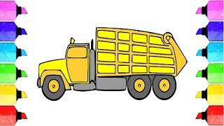 Drawing and Glitter Coloring the Truck Learn Color DIY How to Draw the Truck | Drawing Extra