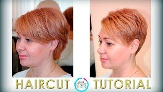 haircut short with asymmetrical elements ( женская короткая стрижка   с асимметричными элементами)