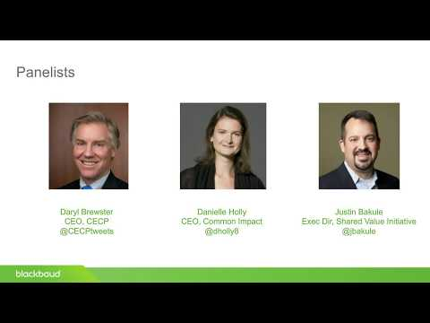 Blackbaud Webinar: CSR 2020: Experts Look Ahead