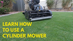 how to use a cylinder mower