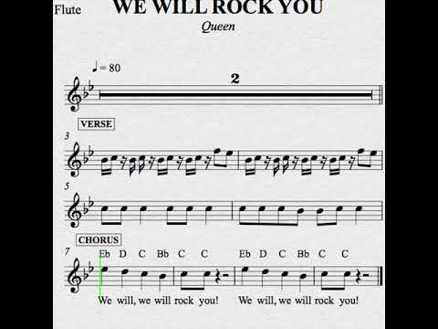 We Will Rock You Flute Youtube