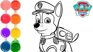 How to Draw & Color Chase from Paw Patrol | New Drawing Tutorial | Toddlers Kids color like La Bala