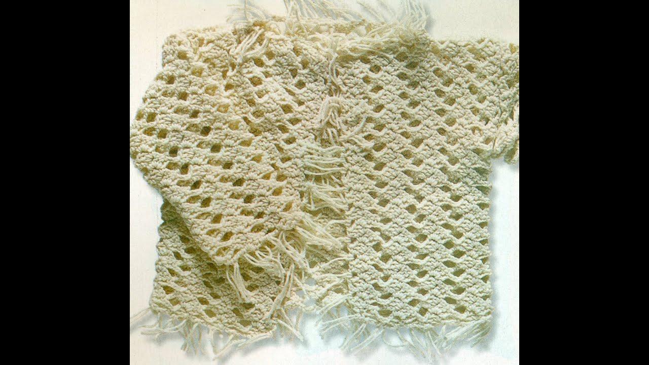 Patrón Para Tejer Suéter Con Flecos Para Bebé a Crochet - YouTube