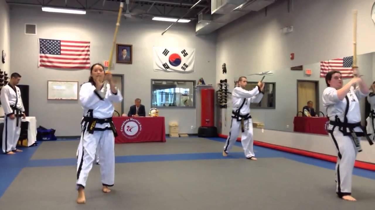 Bamboo sword form  ITF Taekwondo  Complete Martial arts  Black belt testing  10/18/14