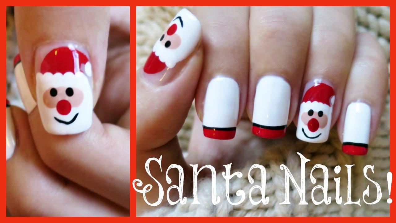 Santa nail art missjenfabulous youtube prinsesfo Choice Image