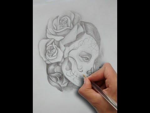 Diseño Catrina y Rosas / Tattoo Design Catrina  Roses, Nosfe Ink Tattoo