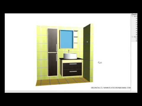 Muebles para ba o lavamanos empotrado mueble con espejo for Pared con espejos redondos