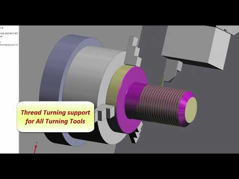 Thread Turning Cycle | Edgecam 2018 R2