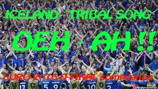 WOW- ICELAND football fans tribal -  VIKING - HAKA - CHANT @ EURO 2016 QF vs France - compilation