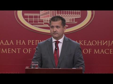 Прес-конференција на портпаролот на Владата на Република Македонија, Миле Бошњаковски