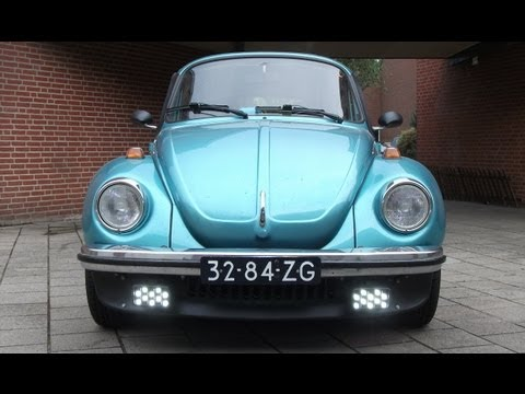 Daytime Running Lights (DRL) in classic fog lights on a VW beetle
