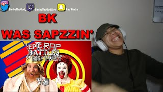 440b7ff3 Ronald McDonald vs The Burger King. Epic Rap Battles of History | REACTION