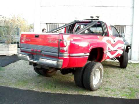 Dodge 2500 Diesel For Sale >> DODGE RAM 3500 8.0 V10 8000 cc 1996 LIFTED RED FLAG USA