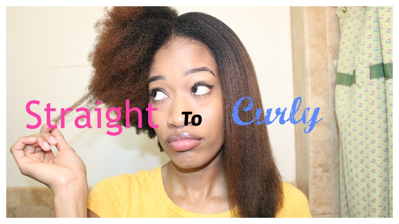 Watch Me Go From Straight To Curly 4c Hair YouTube