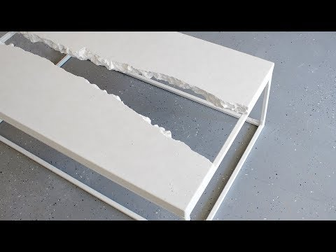 Building a CONCRETE RIVER TABLE w/ DIY No-Weld Metal Base