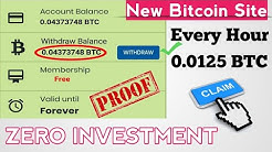 New Bitcoin Earning Site Simple Click And Earn -Zero Investment