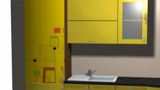 Фотопечать на радиусных фасадах в KitchenDraw(Это видео создано ООО