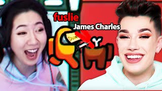 playing AMONG US with JAMES CHARLES and BRETMAN ROCK! ft. DisguisedToast, Sykkuno, friends
