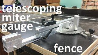 diy telescoping miter gauge fence