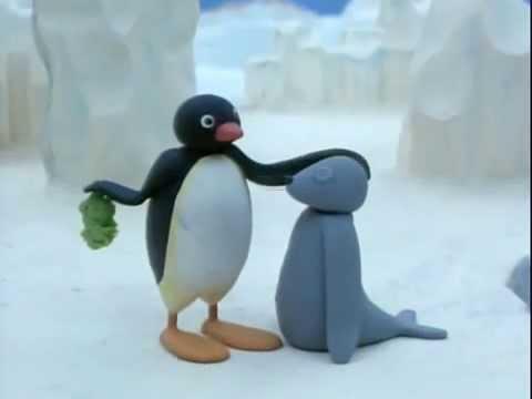 Pingwin Pingu idzie na ryby