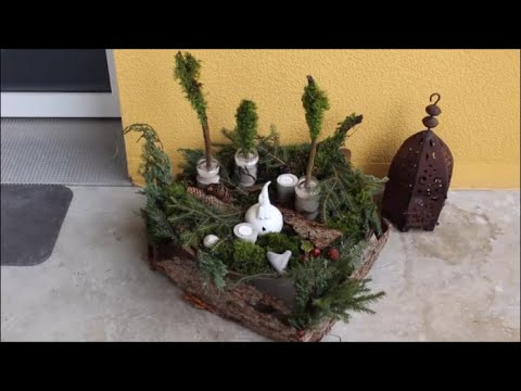 diy advent weihnachten deko 2015 f r aussen aussendeko youtube. Black Bedroom Furniture Sets. Home Design Ideas