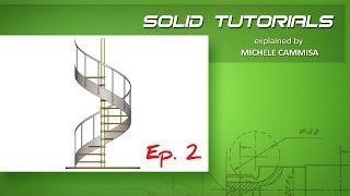 SOLIDWORKS Spiral Staircase Ep.2 / Scala a Chiocciola Ep.2
