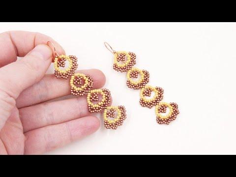 Beaded seed beads Earrings - Free Beading Tutorial by Sidonia