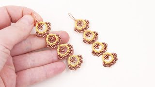 Beaded seed beads Earrings - Free Beading Tutorial by Sidonia