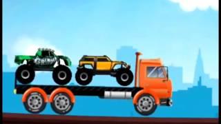 Машинки - Трейлеры и Грузовики. Развивающие мультики для детей.
