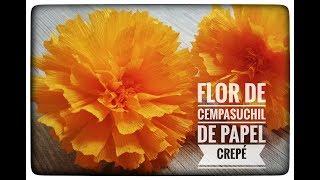 Flores día de Muertos / Cempasuchil de papel crepé