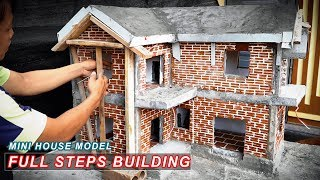 Building Dream Mini House model with bricks | Full steps as reality