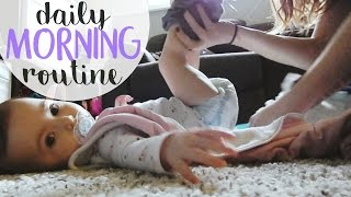DAILY MORNING ROUTINE WITH A BABY || BETHANY FONTAINE