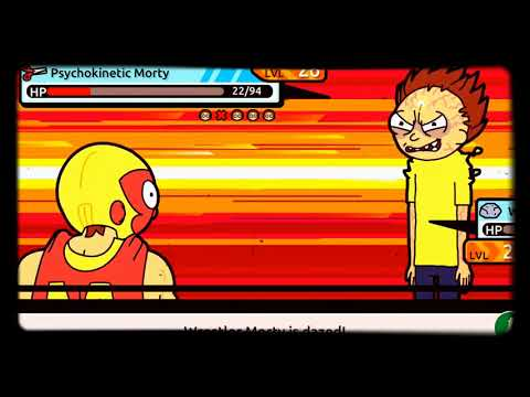 Pocket Mortys beating the 4th council member.