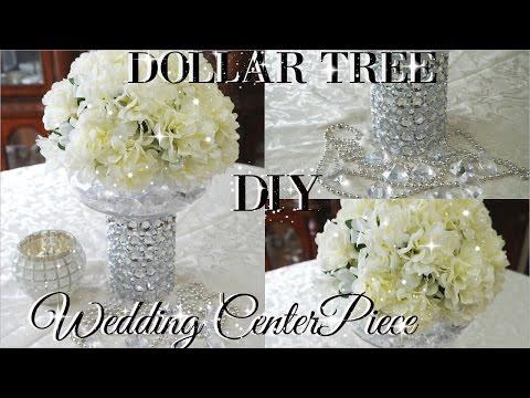 DIY DOLLAR TREE BLING FLORAL WEDDING CENTERPIECE   PETALISBLESS🌹