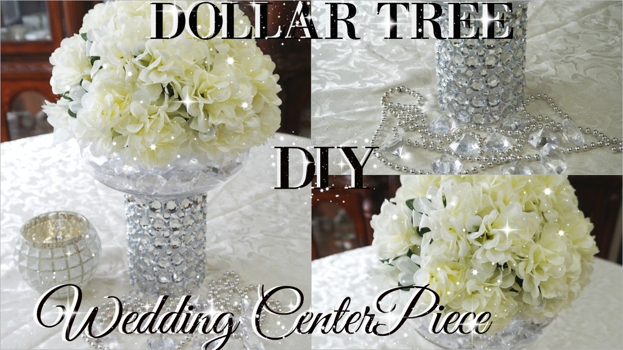 DIY DOLLAR TREE BLING FLORAL WEDDING CENTERPIECE 2017