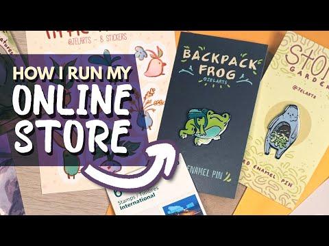 Running My Online ART STORE - Shipping, Pins, Prints, Etc