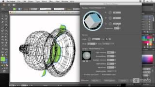 Illustrator CS6 105: 3D: Create 3D Objects - 4. Revolving a Shape