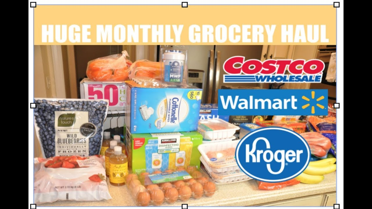 Huge Costco Grocery Haul Monthly Grocery Shopping