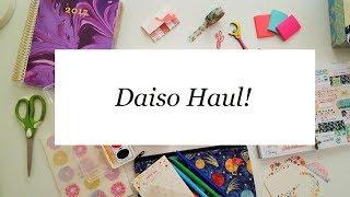 DAISO Haul // Cute Japanese Stationery!