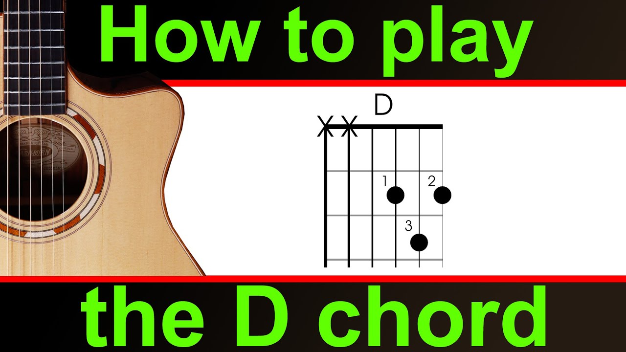 How To Play D Major Chord On Guitar Play The D Chord Major Youtube