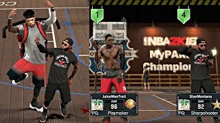 Nba 2k17 mypark - staxmontana and juiceman the best mypark tag team! murder too fresh got a jetpack
