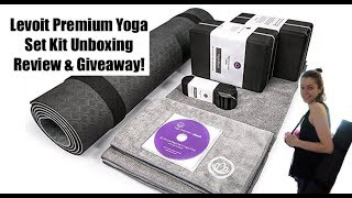 Levoit Premium Yoga Set Kit Unboxing & Review! plus Giveaway!