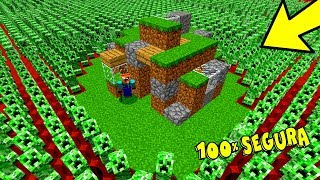 1000 CREEPERS VS. CASA MAIS SEGURA DO MINECRAFT!!! (MINECRAFT)