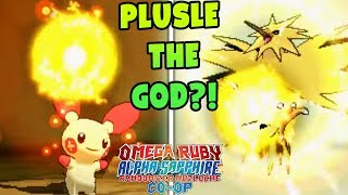 PLUSLE THE GOD?! | Pokemon Omega Ruby Alpha Sapphire RANDOMIZER Nuzlocke Co-Op #10