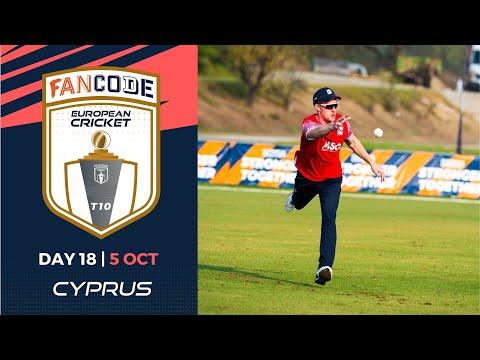 🔴 FanCode European Cricket T10 Cyprus,  Limassol | Day 18 T10 Live Cricket