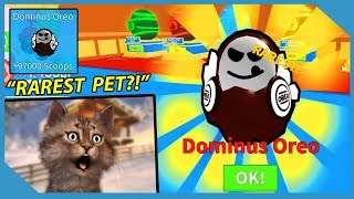 I GOT THE DOMINUS OREO PET! - ROBLOX ICE CREAM SIMULATOR (Rarest Pet)
