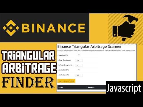Binance Triangular Arbitrage Finder