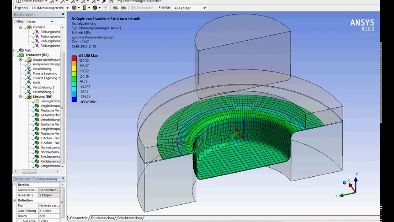 Ansys Workbench Deep drawing simulation - YouTube
