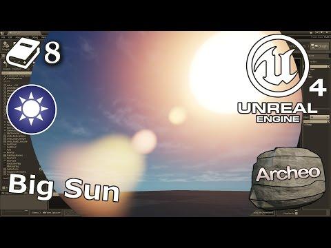 Unreal Engine 4 Guide - Big sun, custom sky