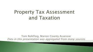 Marion County Assessor - Tom Rohlfing